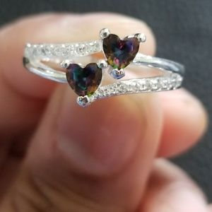 Jewelry - 925 Silver Heart Purple Mystica Topaz Ring